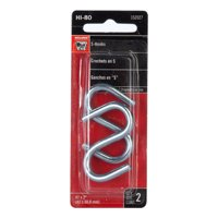Bulldog Hardware 2 in. x 2 in. S Hook, Zinc Plated, 2 Pack