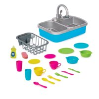 Spark. Create. Imagine. Toy Kitchen Sink with 20 Piece Accessory Play Set