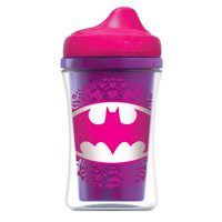 NUK Justice League Insulated Hard Spout Sippy Cup, Batgirl & Wonder Woman, 2 pack