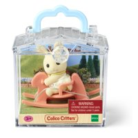 Calico Critters Mini Carry Case, Figure and Accessory in Handled Carry Case