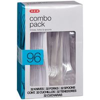 H-E-B Combo Pack Knives, Forks, And Spoons 32 place settings