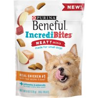 Purina Beneful IncrediBites Meaty Minis Real Chicken With Real Apples & Beef Dog Treats 6 oz. Pouch
