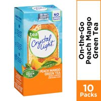 Crystal Light Peach Mango Green Tea On-The-Go Powdered Drink Mix, 10 ct - .08 oz Packets