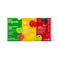 Organic Applesauce Variety Pack Pouches - 12ct - Good & Gather™
