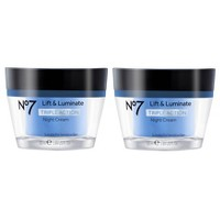 No7 Lift & Luminate Triple Action Night Cream - 2ct