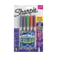 Sharpie Permanent Markers, Ultra Fine Point, Cosmic Color, Limited Edition, 5 Count