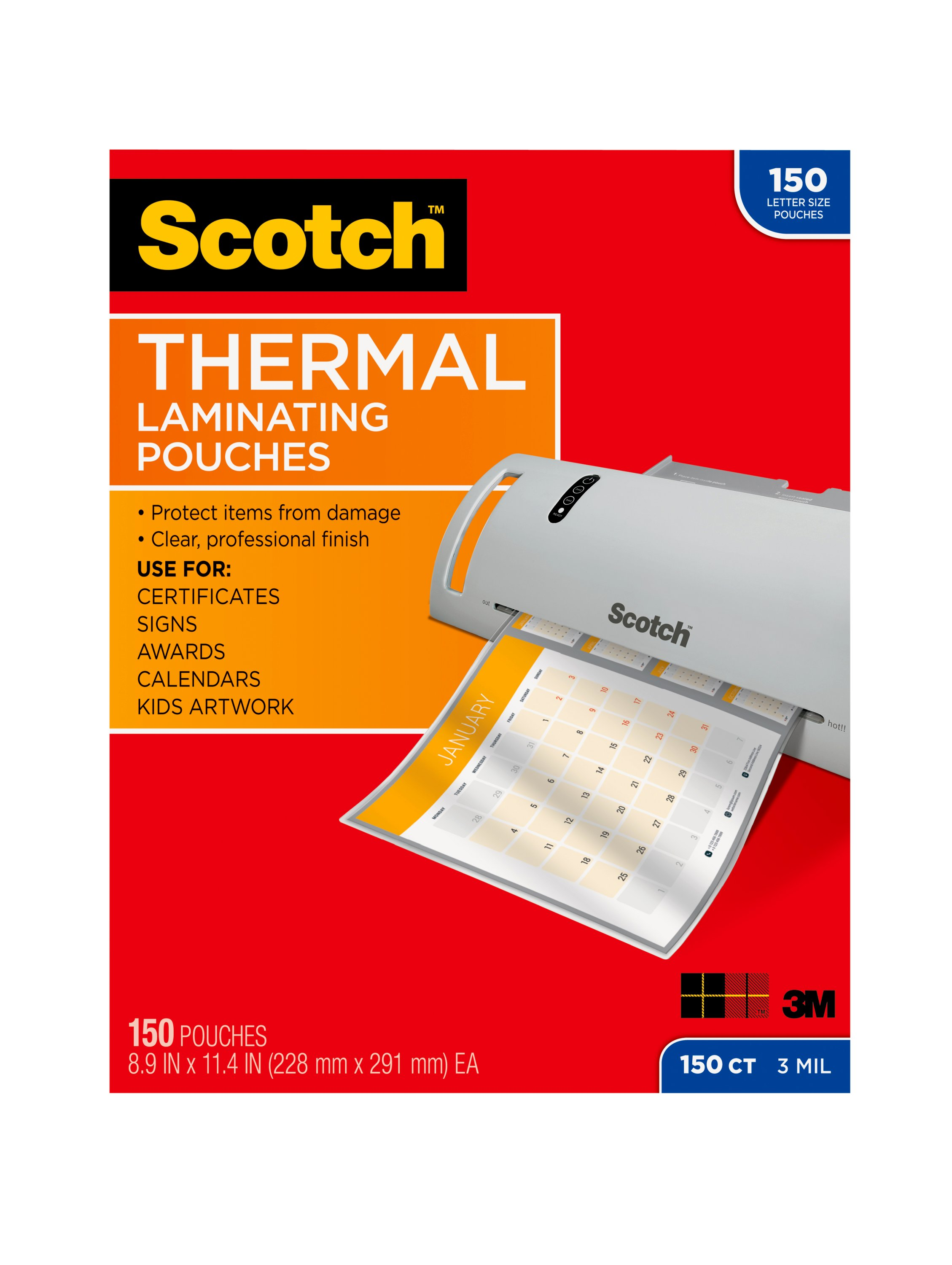 Scotch Create Thermal Laminating Pouches, 15 Count, 8.5