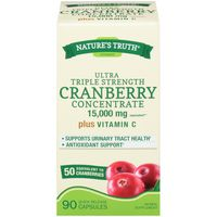 Nature's Truth Organic Ultra Triple Strength Cranberry Concentrate 15000mg Quick Release Capsules Herbal Supplement