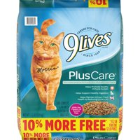 9Lives Plus Care Dry Cat Food Bonus Bag, 13.2-Pound