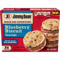 Jimmy Dean Blueberry Biscuit & Sausage Frozen Mini Sandwich - 10ct