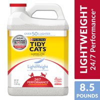 Purina Tidy Cats Light Weight, Low Dust, Clumping Cat Litter, LightWeight 24/7 Performance Multi Cat Litter, 8.5 lb. Jug