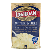 Idahoan Butter & Herb Mashed, 4 oz Pouch