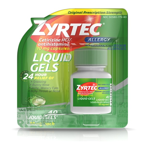 Zyrtec Allergy Liquid Gels, 24 Hour