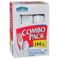 Hill Country Fare Polypropylene Knives, Forks And Spoons Combo Pack