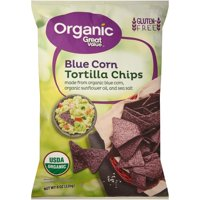 Great Value Organic Blue Corn Tortilla Chips, 8 oz