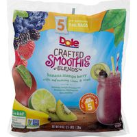 Dole Crafted Smoothie Blends Banana Mango Berry with Refreshing Lime & Kiwi