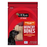 Ol' Roy Munchy Bones Dog Treats, Peanut Butter Flavor, 20 oz, 7 Count