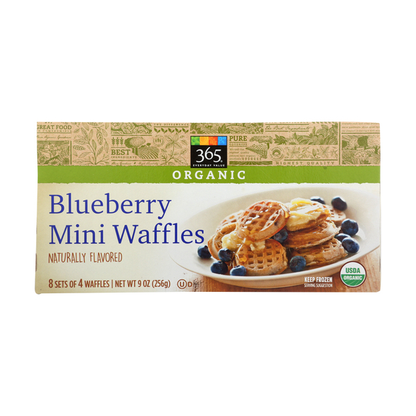 365 everyday value® Mini Waffles, Blueberry, 8 Each