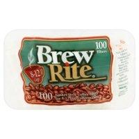 Brew Rite 8-12 Cup Basket Style Coffee Filters, 100 Ct