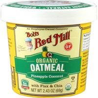 Bobs Red Mill Oatmeal, Organic, Pineapple Coconut