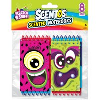 Scentos Scented Notebooks, 8 Pack