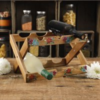The Pioneer Woman Spring Bouquet 13.9-Inch Wine Rack