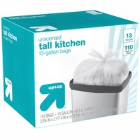 Tall Kitchen Flap-Tie Trash Bags - 13 Gallon - 110ct - Up&Up™