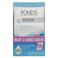 Ponds Wet Cleansing Towelettes - Original - 56ct