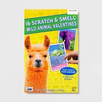 16ct Valentines Wild Animal Scratch And Smell Kit