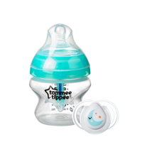 Tommee Tippee Advanced Anti-Colic Baby Bottle with 0-2m Newborn Pacifier – 5oz, 1 Count