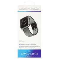 Woven Nylon Band For 42 & 44MM Apple Watch® - Black