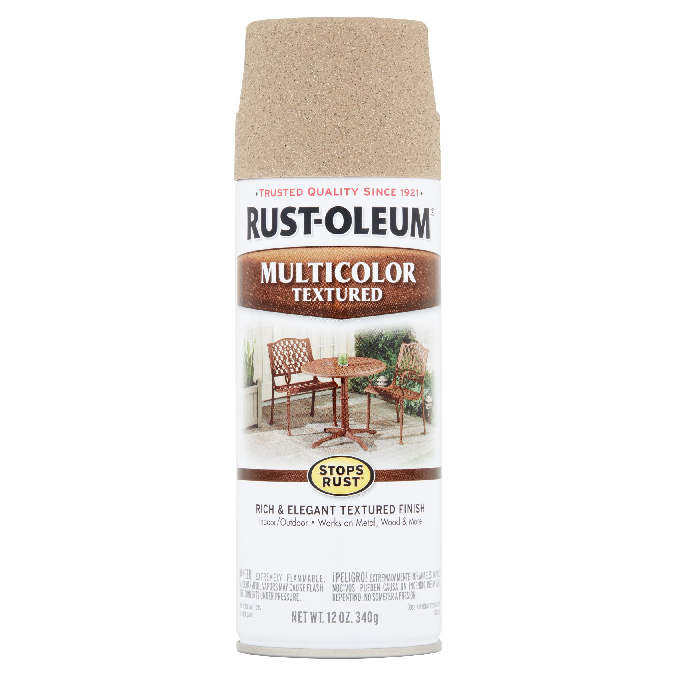 (3 Pack) Rust-Oleum Stops Rust Multicolor Textured Desert Bisque Spray Paint, 12 oz