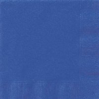 Electric Blue Paper Napkins, 6.5in, 24ct