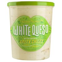 Queso Mama White Queso With Green Chiles, 32 oz