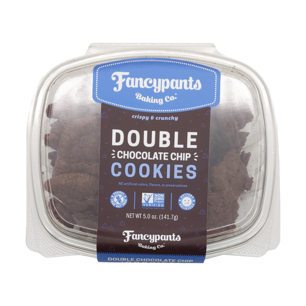 Fancypants baking co. Double Chocolate Crunch Cookies, 5 oz