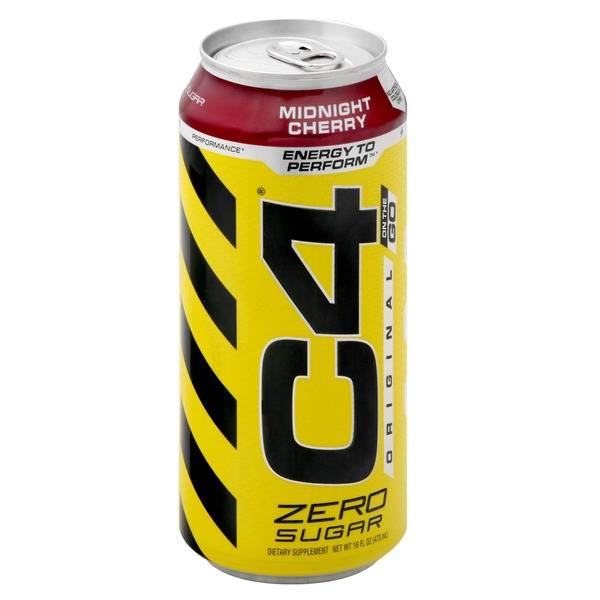 C4 Energy Drink, Zero Sugar, Original, Midnight Cherry