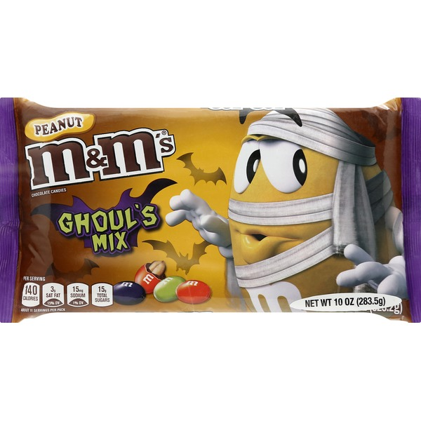 M&Ms Chocolate Candies, Peanut, Ghoul's Mix