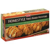 H-E-B Sour Cream, Cheddar Cheese, Bacon & Chives Homestyle Twice Baked Potatoes