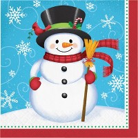 Snowman and Penguin Napkins