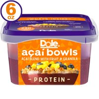 Dole Protein Acai Bowl, Frozen Acai Bowl with Fruit and Granola, 6 Oz