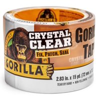 Gorilla Crystal Clear Tough & Wide Tape, 15 yd Roll