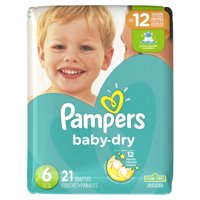Pampers Baby-Dry Extra Protection Diapers, Size 6, 21 Ct