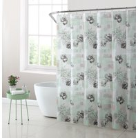 Mainstays Postal Stamp PEVA Shower Curtain