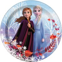AR Interactive Frozen Paper Dinner Plates, 9in, 8ct