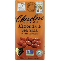 Chocolove Dark Chocolate, Almonds & Sea Salt, 55% Cocoa