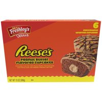 Mrs. Freshley's® Deluxe Reese's Peanut Butter Flavored Cupcakes 6 ct Box