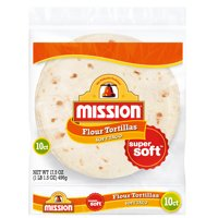 Mission Soft Taco Flour Tortillas, 10 Count