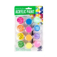 Horizon Group USA Acrylic Glow In the Dark & Neon Paint, 12 Piece