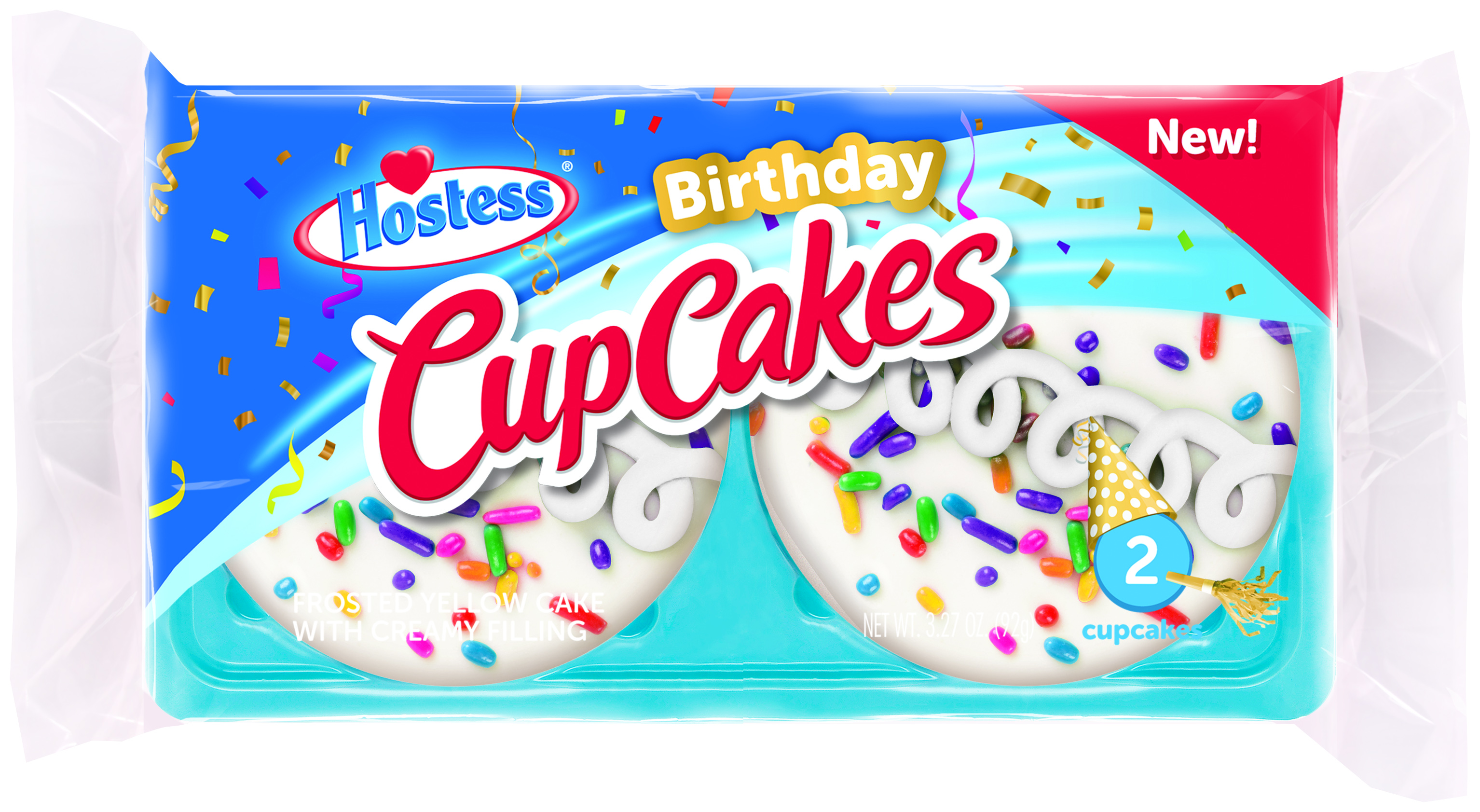 Miraculous Hostess Hst Birthday Cupcake 3 27Oz 2Ct Singles From Walmart In Personalised Birthday Cards Epsylily Jamesorg