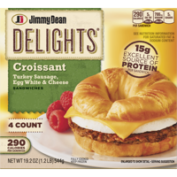 Jimmy Dean Delights® Turkey Sausage, Egg White & Cheese Croissant Sandwiches, 4 Count (Frozen)
